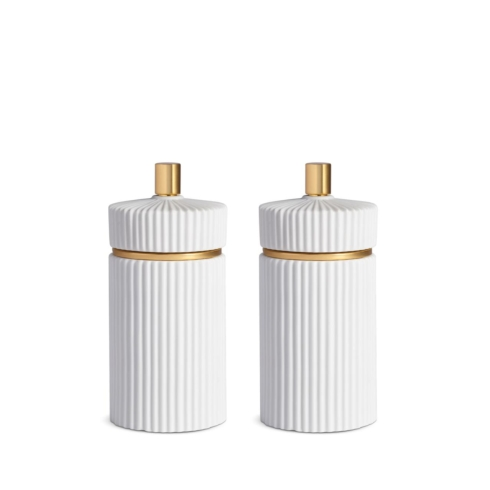 IONIC SALT & PEPPER SET - SMALL WHITE collection with 1 products