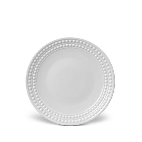 L'Objet   PERLEE WHITE SALAD/DESSERT PLATE $40.00