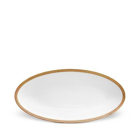$310.00 SOIE TRESSEE GOLD OVAL PLATTER - SMALL