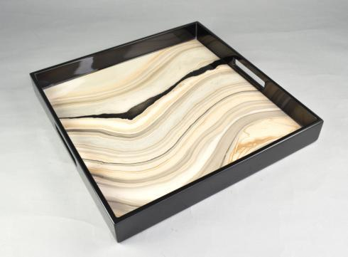 Pacific Connections   TUSCON SQUARE TRAY 16 X 16 $225.00