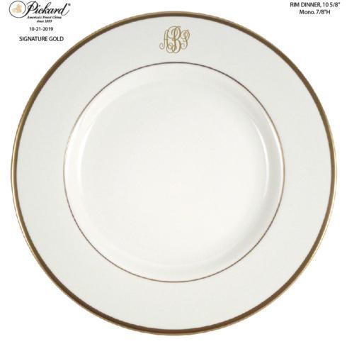 $80.00 MONOGRAM DINNER PLATE