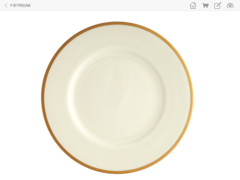 Prouna  COMET GOLD Dinner Plate $40.00