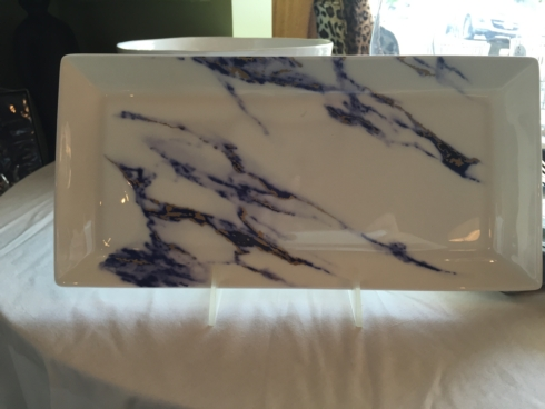 Prouna  Marble BLUE AND WHITE MARBELIZED TRAY $140.00
