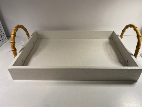 TRAY WITH BAMBOO HANDLES