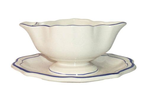 Gien Filet Bleu Sauce Boat collection with 1 products