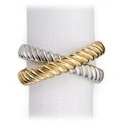 DECO TWIST PLATINUM & GOLD NAPKIN RINGS S/4 collection with 1 products