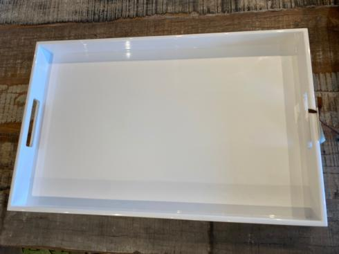 Pacific Connections   WHITE LACQUER TRAY  $225.00