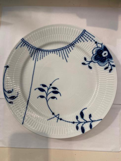 $60.00 BLUE FLUTED MEGA DINNER #2 SAMPLEPLATE