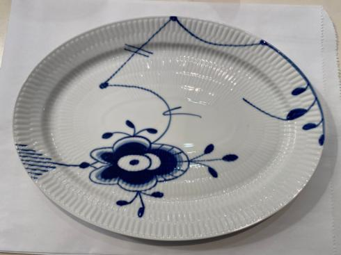 $65.00 BLUE FLUTED MEGA SMALL OVAL PLATTER