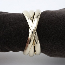 Rolling Rings Gold Napkin Rings set/4 collection with 1 products