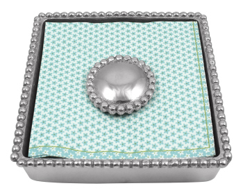 Mariposa   Pearler Beaded Napkin Box with Weight $48.00