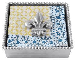 Mariposa   Fleur-de-lis Napkin Box $48.00