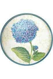 $50.00 Rock Flower Paper Blue Hydrangea Tray