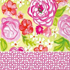 Boston International   Rose Garden Luncheon Napkin $6.25