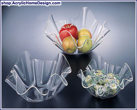 Huang Acrylic   medium ruffle bowl $11.00
