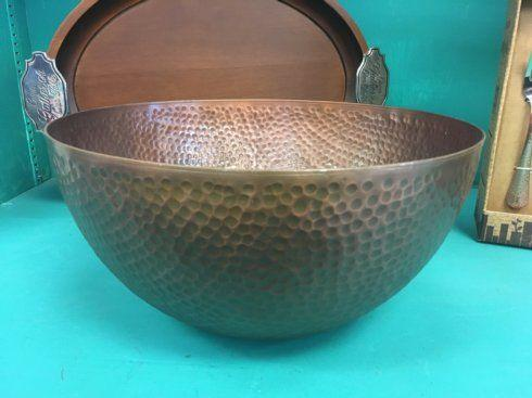 Thirsty Stone   Large Antique Copper Finish Serving Bowl $44.95