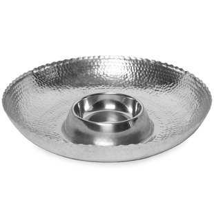 India Handicrafts   hammered chip and dip $39.00