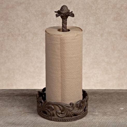 Gracious Goods   Acanthus Leaf Metal Paper Towel Holder $76.50