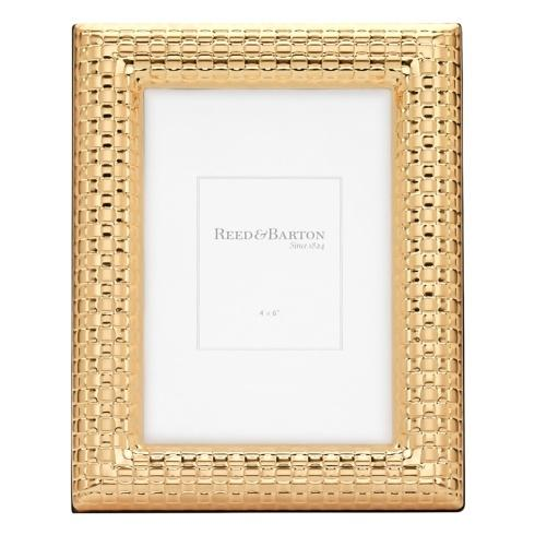 Reed & Barton  Gold Accent Frames Watchband Gold 4 x 6 Frame $50.00