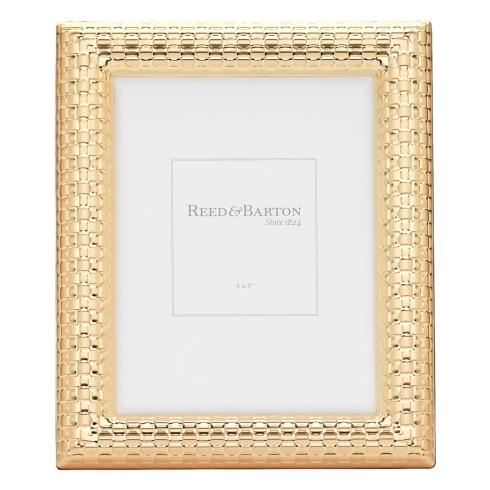 Reed & Barton  Gold Accent Frames Watchband Gold 5 x 7 Frame $60.00