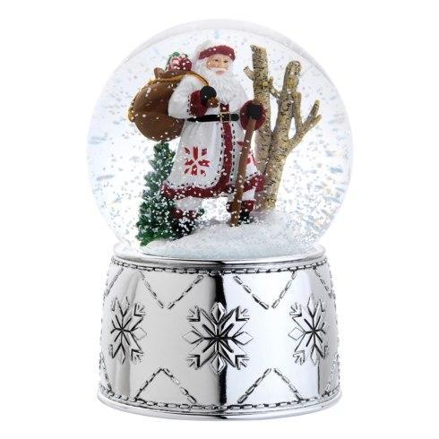 Reed & Barton  Christmas Nordic Santa Snow Globe $50.00