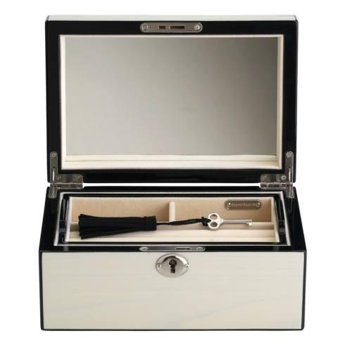 $150.00 Modern Lines Cream Jewelry Box