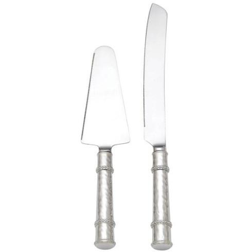 Reed & Barton  Banded Bead Stainless 2-piece Pastry Set $105.00