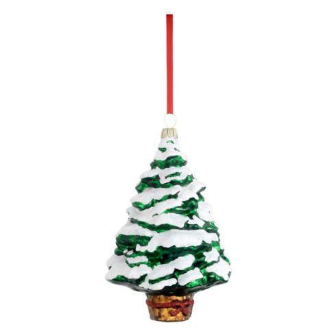 Pine Blown Glass Ornament