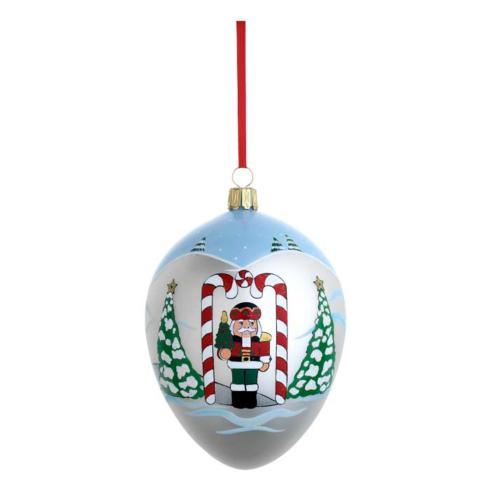 Standing Guard Egg Blown Glass Ornament