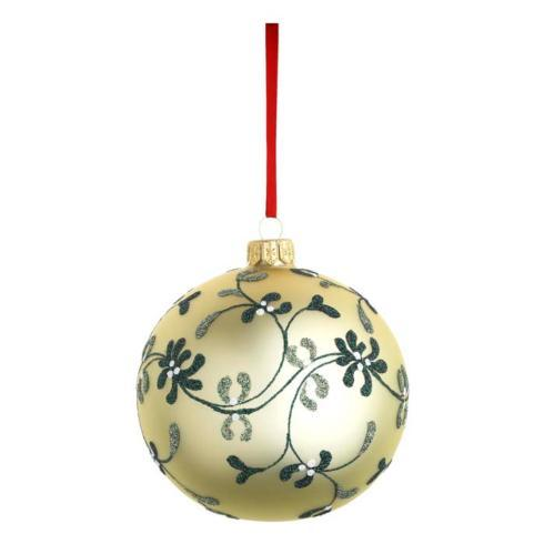 Mistletoe Lace Ball Blown Glass Ornament