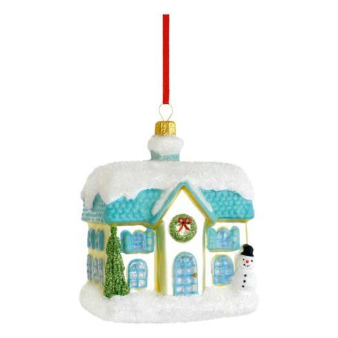 Cottage Blown Glass Ornament