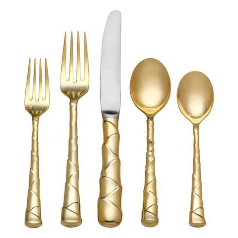 $100.00 Gold 5-Piece Place Setting