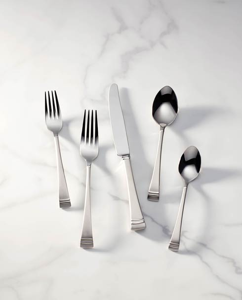 $59.95 5pc Frosted Flatware Place Set