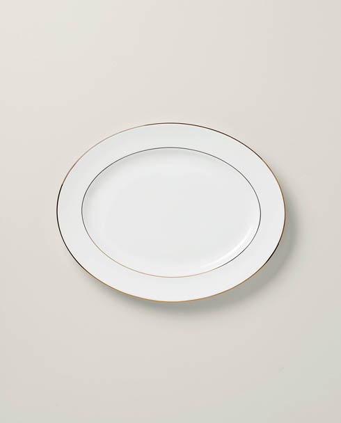 "Lenox Continental Dining Gold 16"" Oval Platter $99.95"