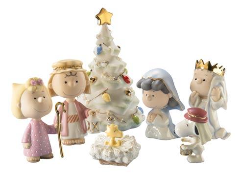 $124.95 7-piece Peanuts Christmas Pageant Figurine