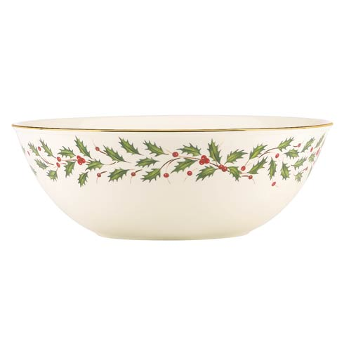"Lenox  Holiday Holiday 10.75"" Large Bowl $80.00"