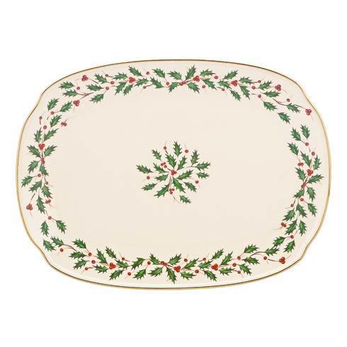 """Lenox  Holiday 15.25"""" Oblong Platter $80.00"""