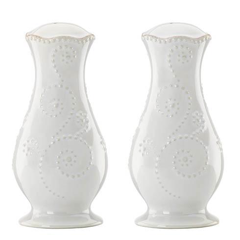 Lenox French Perle White Tall Salt & Pepper Set $34.95