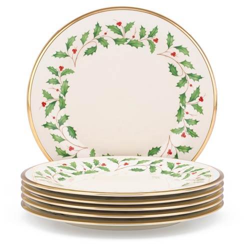 Lenox  Holiday 6-piece Dinner Plate Set $149.95