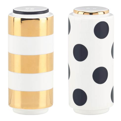"$40.00 Fairmount Park "" Dots and Stripes"" Salt and Pepper Set"