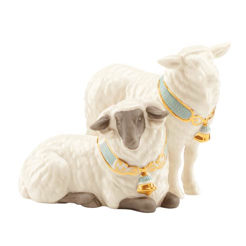 $49.95 First Blessing Pair Of Sheep Figurine
