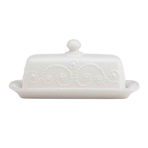 Lenox French Perle White Covered Butter Dish $39.95