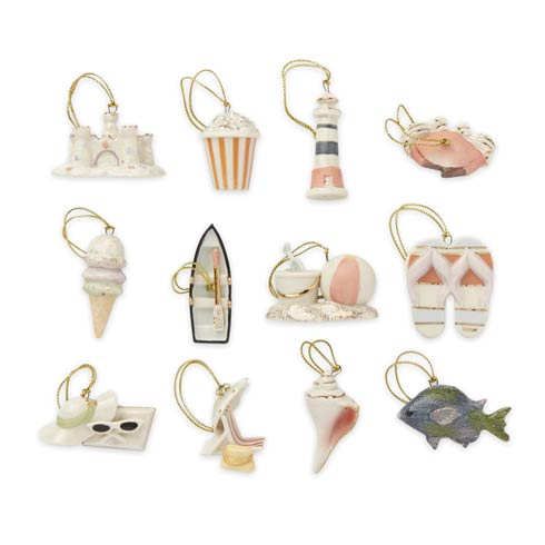 $79.95 12pc Summer Mini Ornament Set