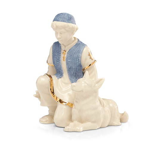 $49.95 First Blessing Shepherd Boy with Dog Figurine