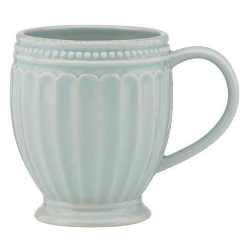Lenox French Perle Groove Ice Blue Mug $12.95
