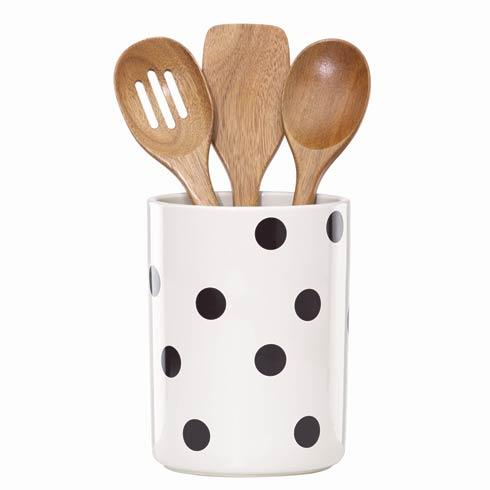 Kate Spade  Deco Dot Utensil Crock $45.00