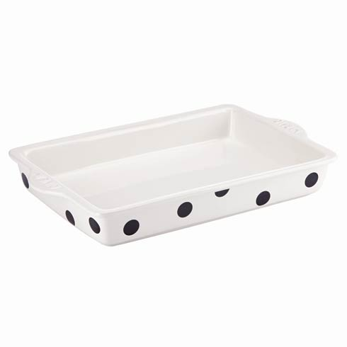$50.00 Words Black & White Large Rectangular Baker
