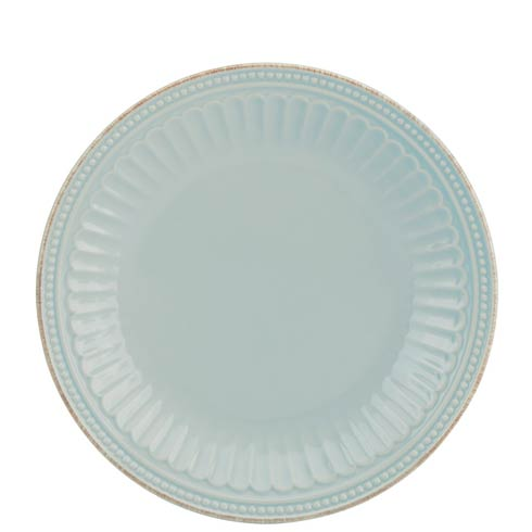 Lenox French Perle Groove Ice Blue Accent Plate $19.95