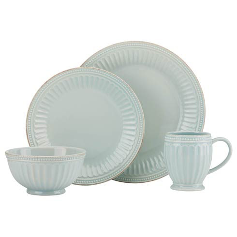 Lenox French Perle Groove Ice Blue 4-piece Place Setting $69.95