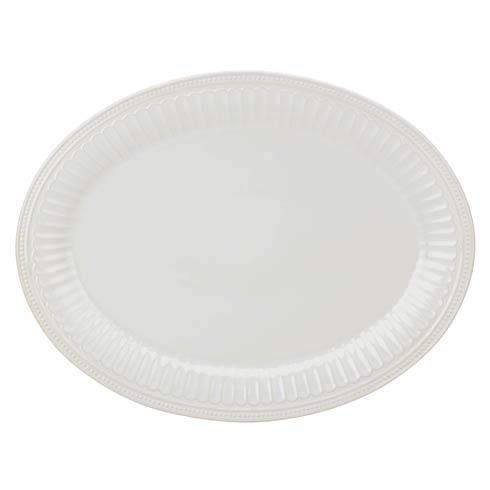 "Lenox French Perle Groove 16"" White Platter $99.95"